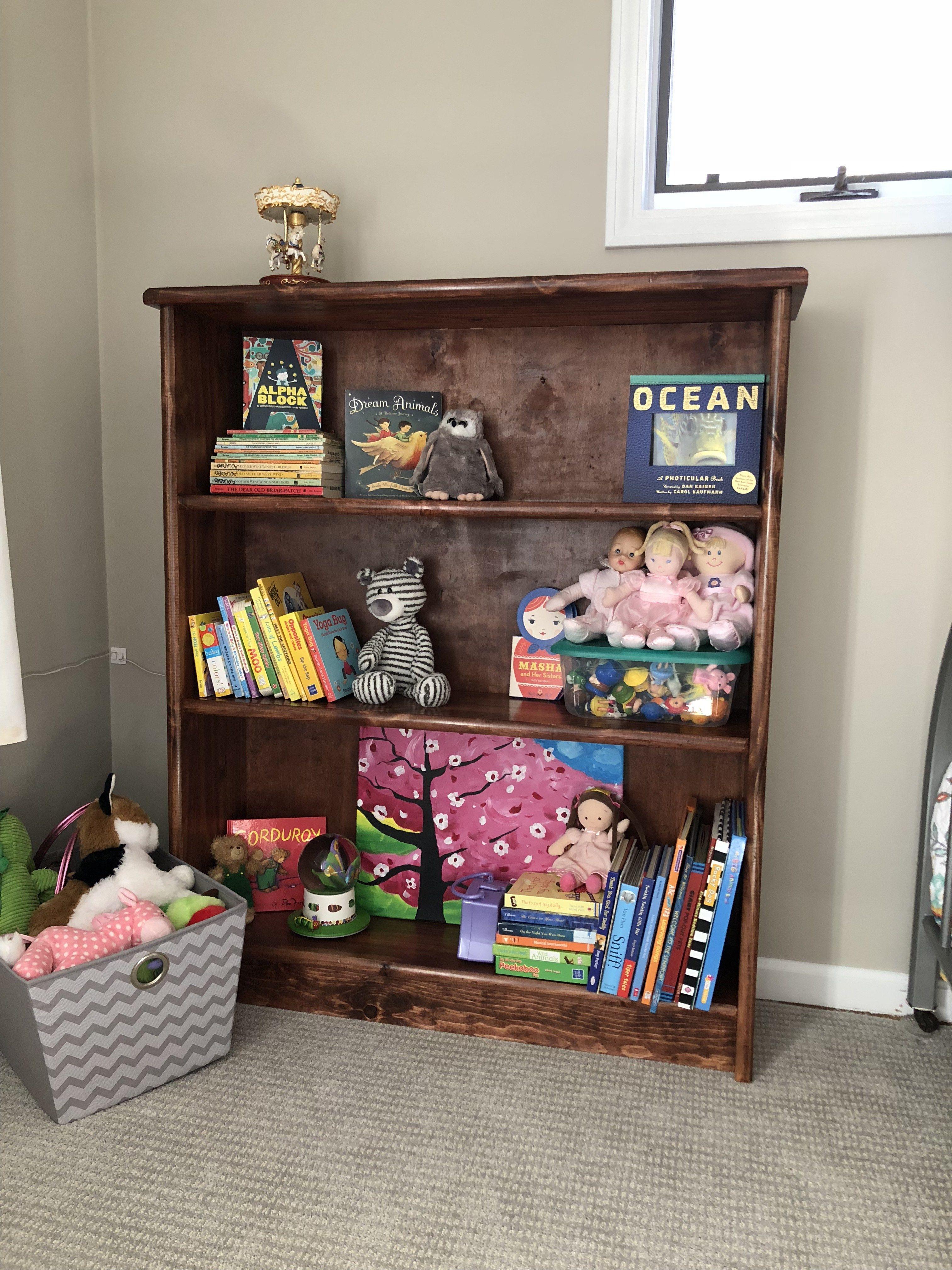 The simple bookshelf I built!