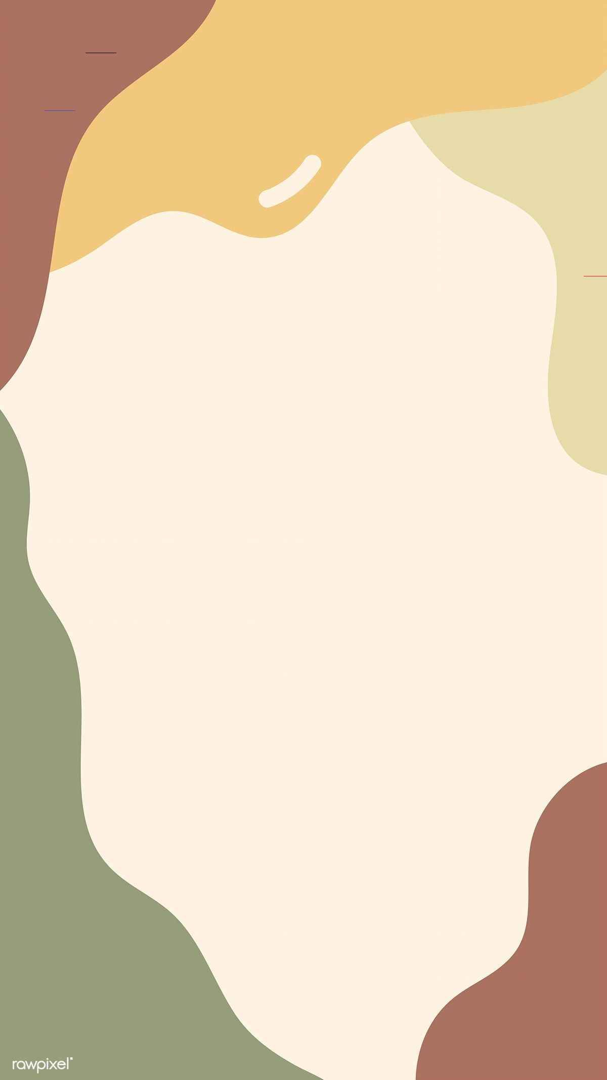 Download free vector of Earth tone abstract print background vector 681481