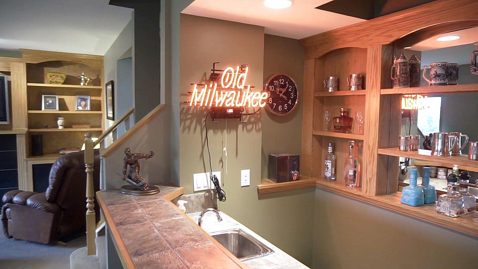 Words Led Lights Decor On A Kitchen Bar Concept   Kitchen bar ...