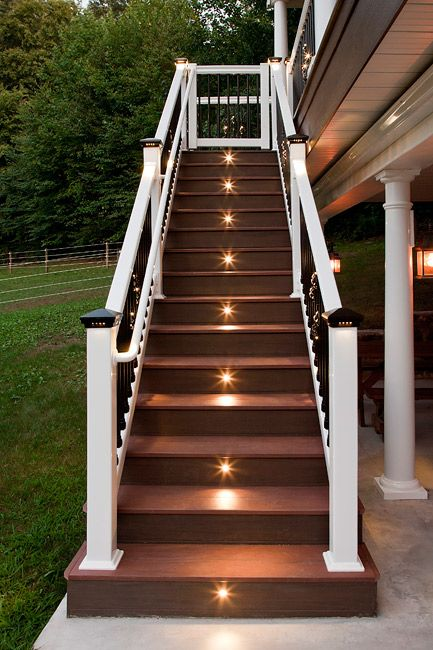 Outdoor Led Recessed Stair Light Kit 8 Pack In 2020 Outdoor Stairs Outdoor Stair Lighting Deck Stair Lights