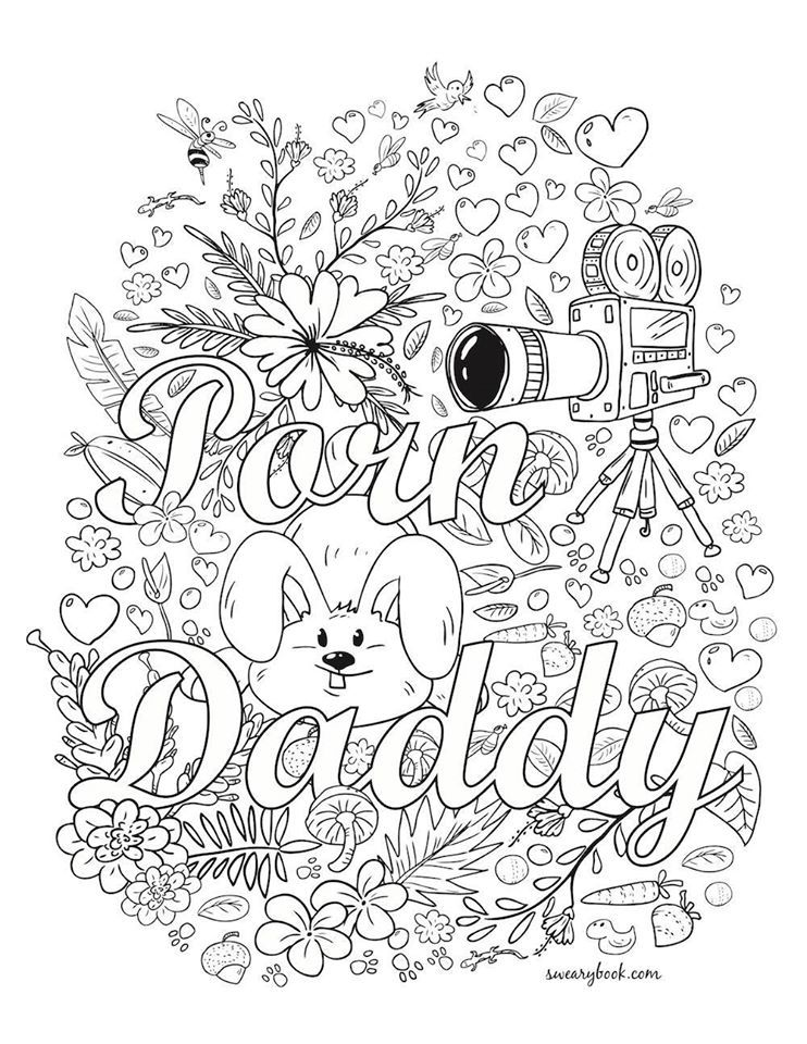 Pin By Tamie White On Swear Words Adult Coloring Pages