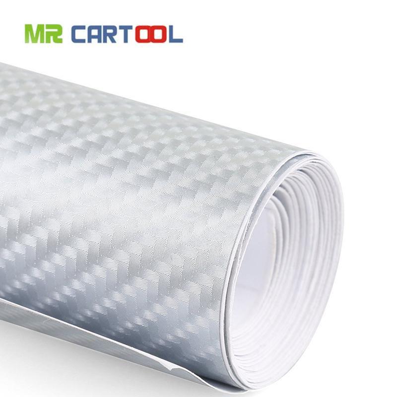 4d Waterproof Automotive Bubble Free Vinyl Wrap Carbon Fiber Vehicle Sticker Kit Exterior Interior Diy Decoration Sliver Vinyl Wrap Sticker Kits Diy Decor
