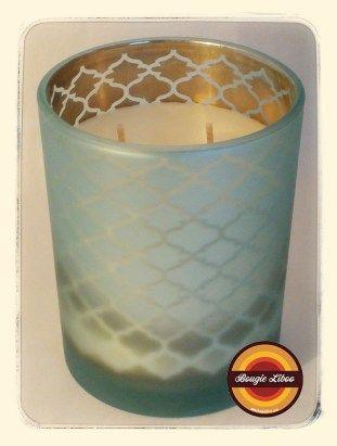 Candle Bougie Decorative Transparentes Cire Naturelle 600gr Candle