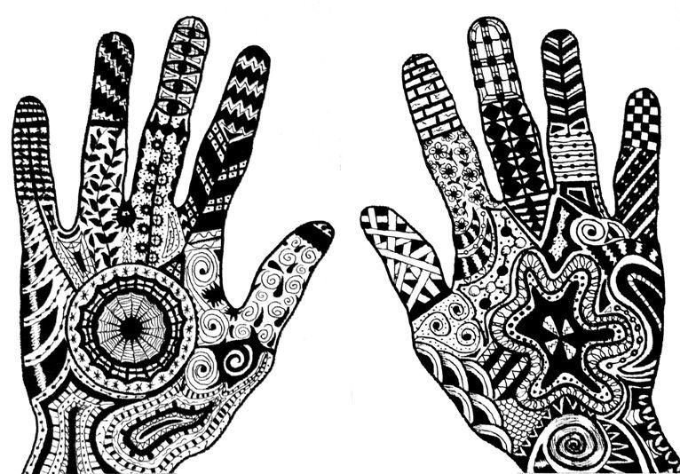 Doodle hands by TinyAna @ deviantART