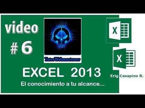 TUTORIAL EXCEL 2013 - TIPOS DE DATOS TABLAS ESTILOS FORMATOS - VIDEO