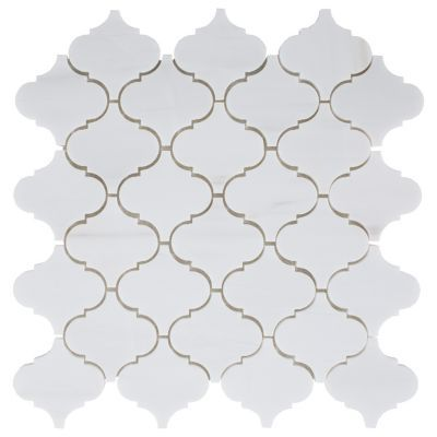 Floor And Decor Arabesque Tile Dolomite Arabesque Marble Mosaic  12Inx 12In Floor And Decor
