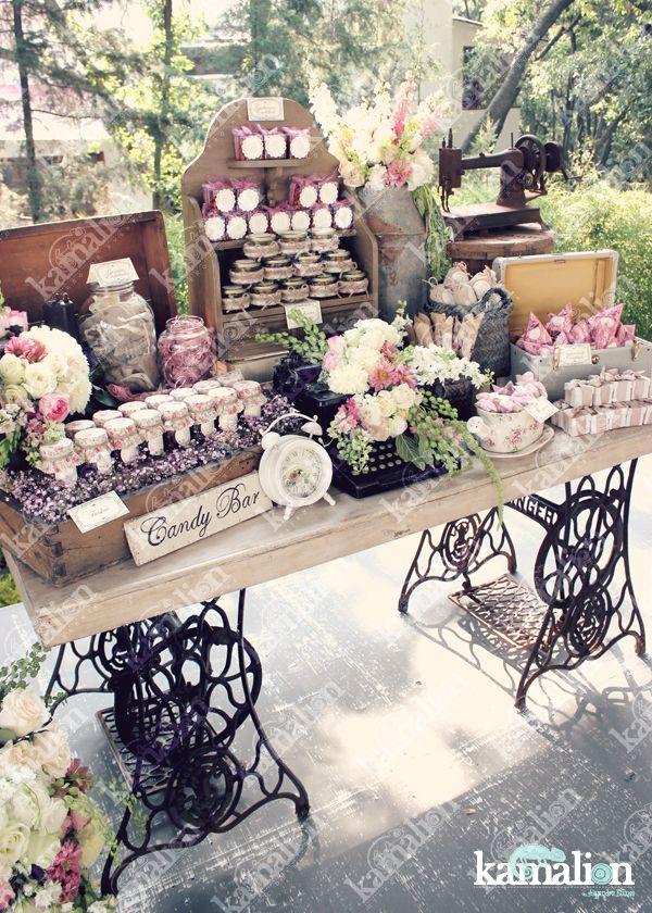 Www.kamalion.com.mx   mesa de dulces / candy bar / postres / rosa ...