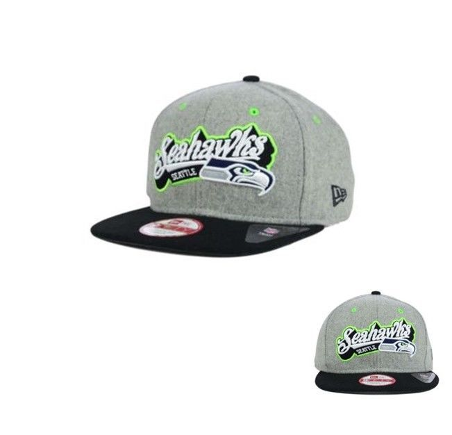 27dcc37a558 New Era Seattle Seahawks Meltone 9FIFTY Snapback Cap hat new MENS FITS ALL   NewEra