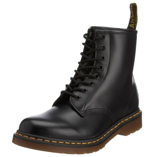 NEW DR Martens Docs Womens Black Smooth Leather 8UP Boots