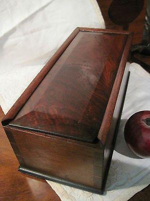 Antique 1800s Walnut Smoke Flame Grain Dovetailed Slide Candle Storage Box  AAFA | EBay