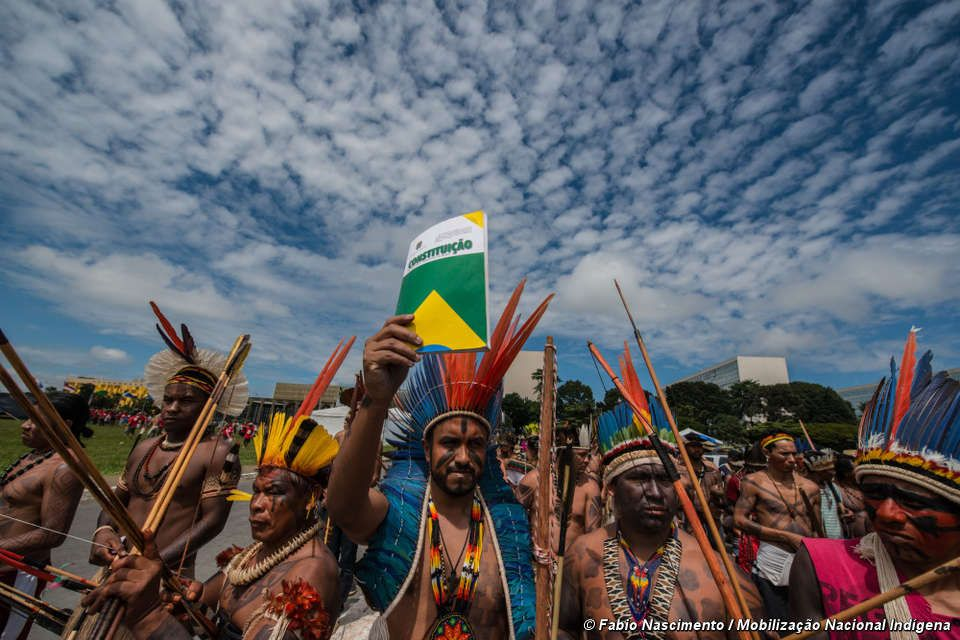 Brazilian Indians are protesting against controversial plans to weaken their land rights