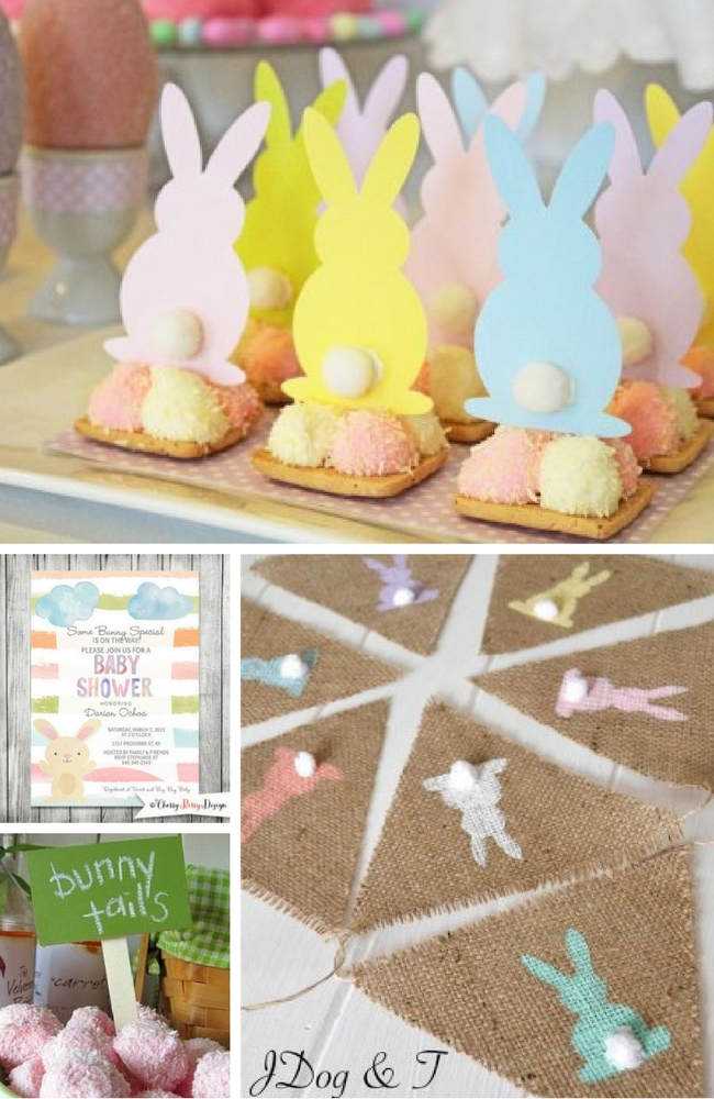 Easter Baby Shower Favors And Decorations In 2021 Easter Baby Shower Easter Gender Reveal Party Easter Baby Shower Theme