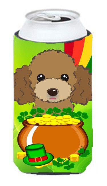 Chocolate Brown Poodle St. Patrick's Day Tall Boy Koozie Hugger BB2000TBC