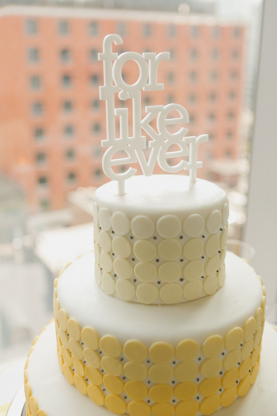 Modern Gray and Yellow Wedding at Malaparte | Ombre, Studio and Cake