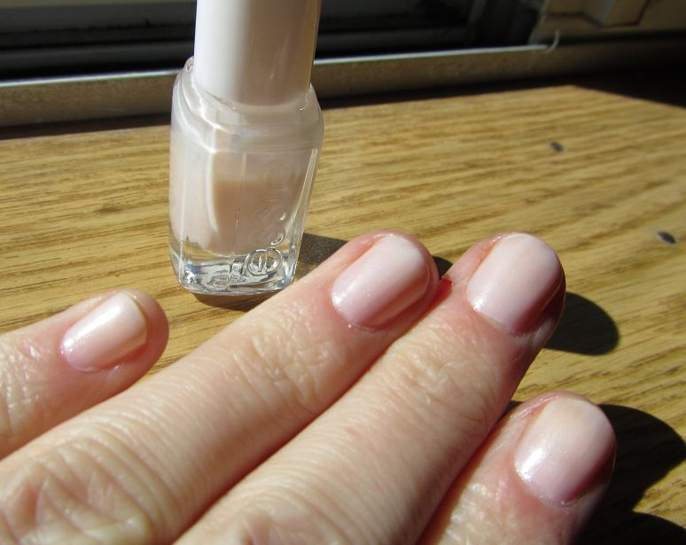 Essie Atlantis Pearl Sheer Milky White Shown 3 4 Coats Nail
