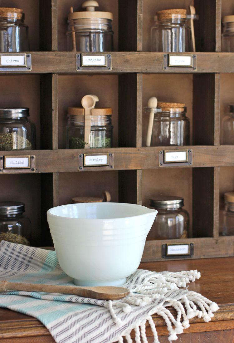 Farmhouse wooden cubby shelf styling ideas diy spice