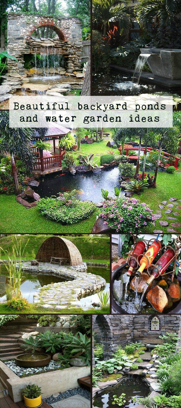 DIY Garden Waterfalls | Water features, Backyard and Pond