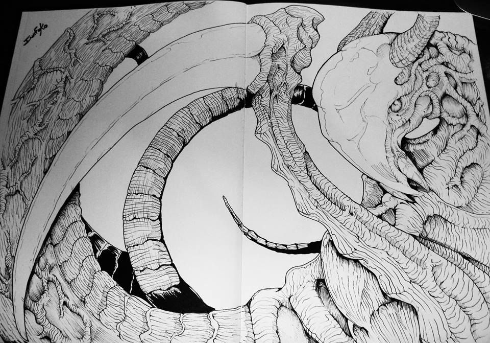 MTG Sliver sketch.