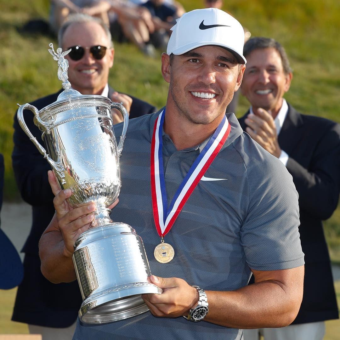 With Every Major Win Brooks Koepka Shows Us A New Shiny Rolex Watch Brooks Koepka Golf Clubs Golf Trophies