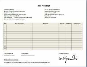 professional design bill receipt template collection of business