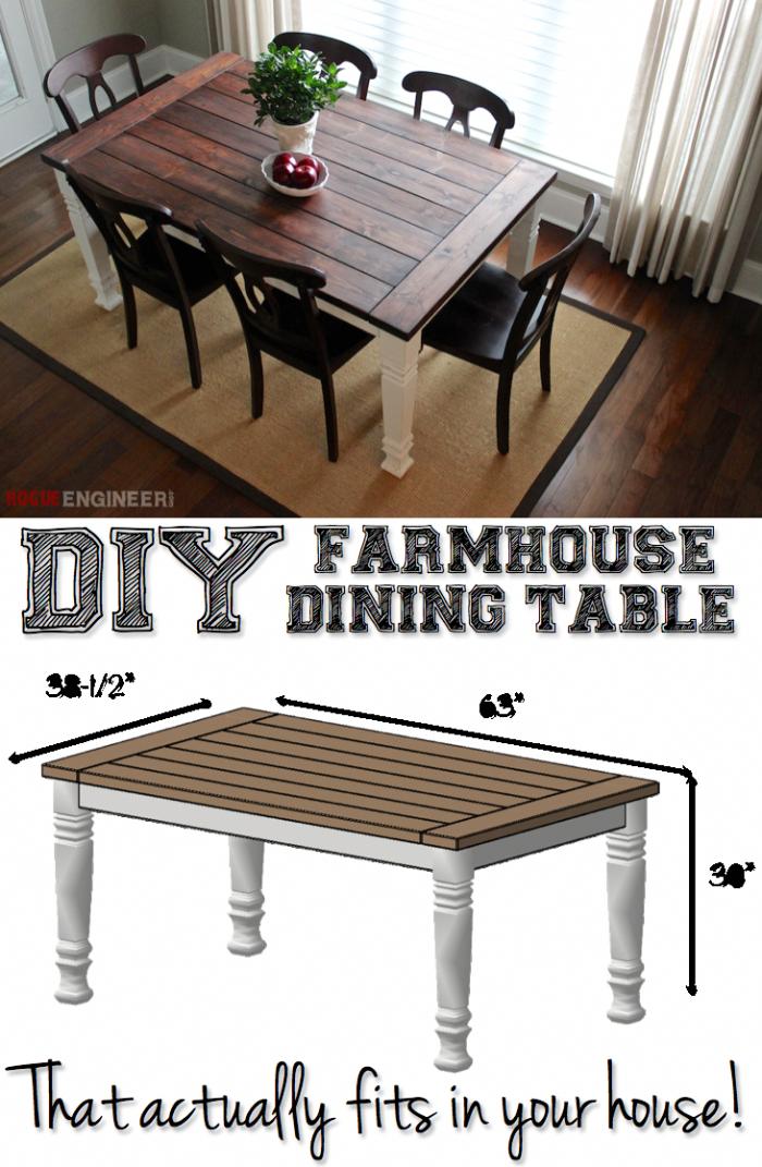 Diy Farmhouse Dining Table Plans Free Diy Plans Rogueengineer Com Farmhousediningtable D Farmhouse Dining Table Diy Furniture Plans Diy Farmhouse Table