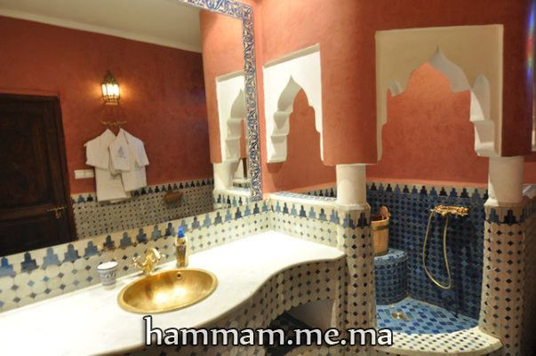salle du bain hammam marocain moderne et traditionnel 2013 steam room pinterest hammam. Black Bedroom Furniture Sets. Home Design Ideas