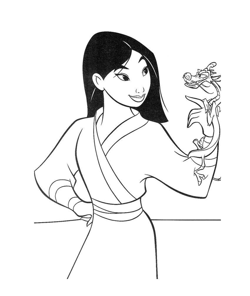 Disney Mulan Coloring Pages Free - Mulan cartoon coloring pages ...