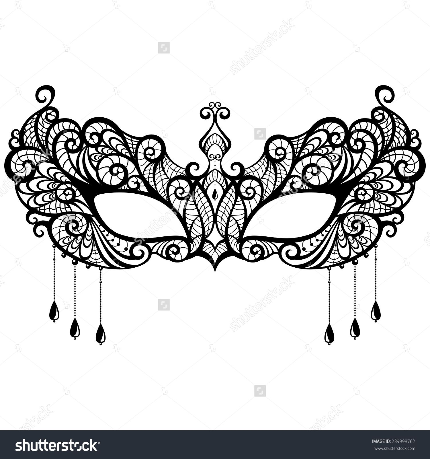 stock-vector-beautiful-lace-masquerade-mask-isolated-on-white ...