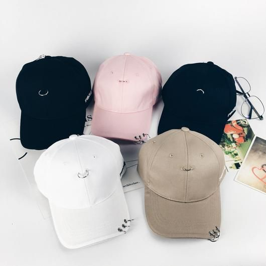 2f00fefc2 PIERCING RINGS BASEBALL CAP #pastels #pastel #patches #ulzzang ...