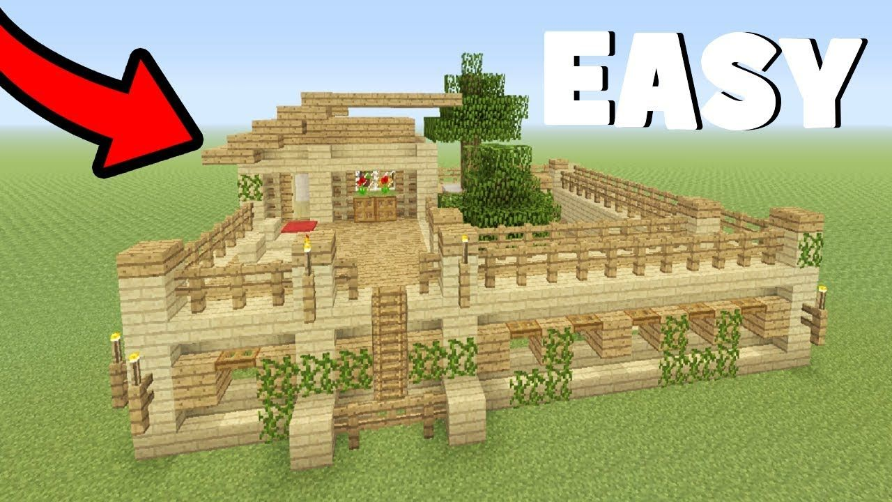 Minecraft Tutorial How To Make A Wood Survival Base Everything