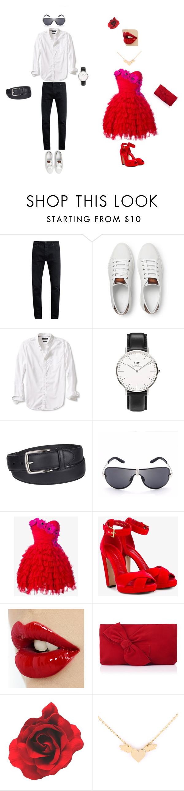 """Fashion"" by elena-908 on Polyvore featuring Neuw denim, Berluti, Banana Republic, Daniel Wellington, Columbia, Dolce&Gabbana, Alexander McQueen and L.K.Bennett"