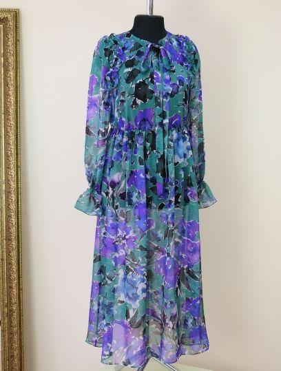 a0f1951762b Яркое шифоновое платье