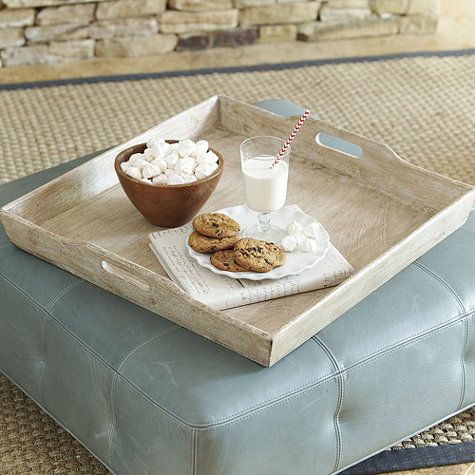 Ottoman Trays Home Decor Entrancing Ansley Planked Ottoman Tray  Home Decor  Pinterest  Plank Inspiration