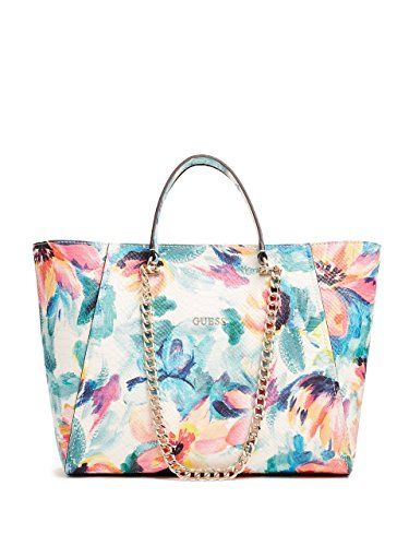 Guess Nikki Floral Print Chain Tote In 2020 Floral Bags Purses