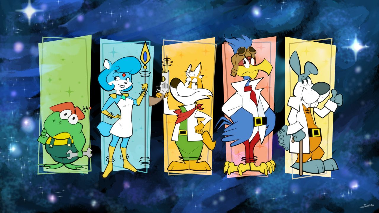 Star Fox, imagined as Hanna-Barbera cartoons