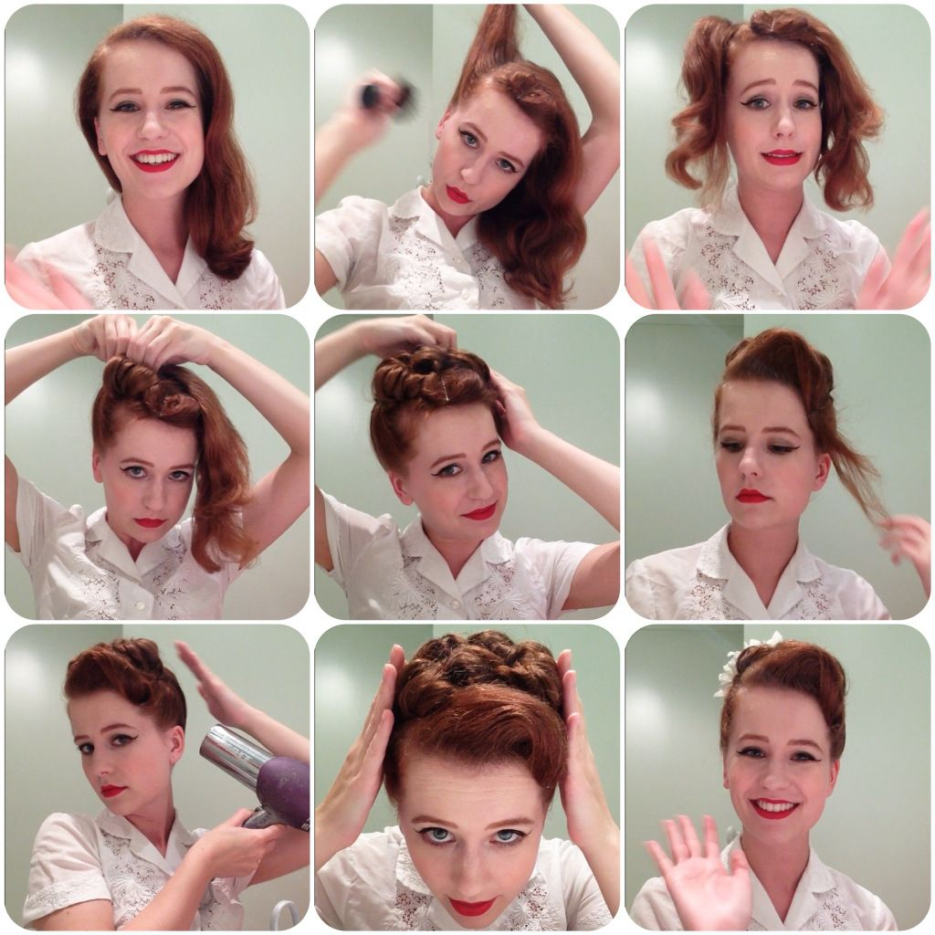 Glamorous Roll Perfect For Parties Alldaychic Roll Hairstyle Retro Hairstyles Tutorial Lazy Girl Hairstyles