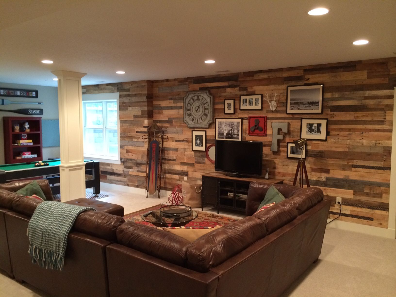 Recycled Pallet Wood Accent Wall | Wood walls, Walls and Woods