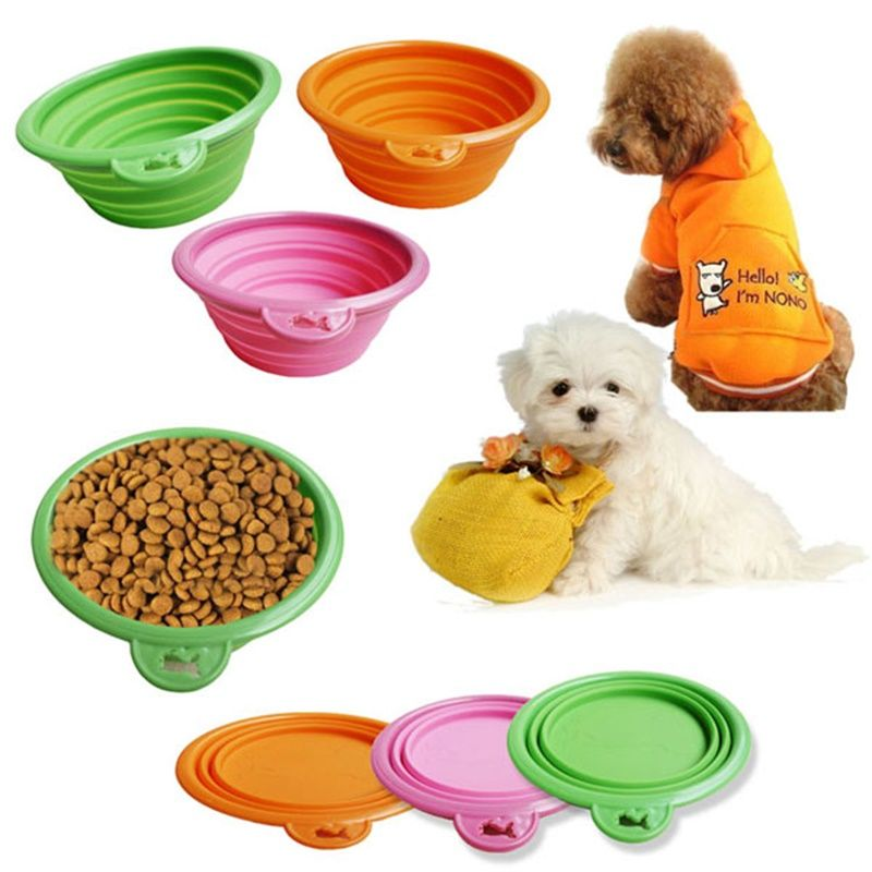 Hot Sale Silicone Collapsible Feeding Bowl Dog Water Dish Cat Portable Feeder Puppy Pet Travel Bowls Price U Pet Food Dishes Food Animals Collapsible Dog Bowl