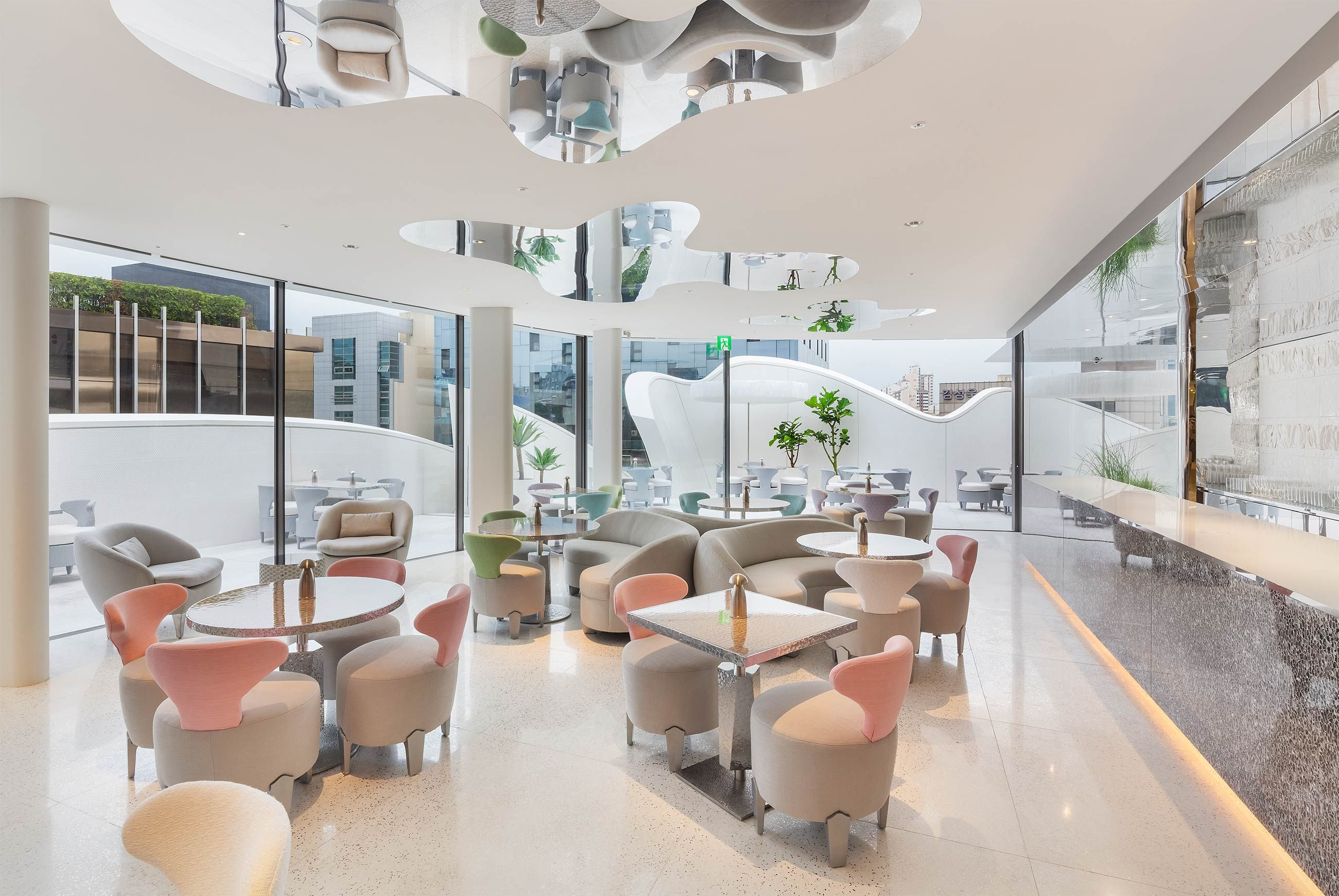 Dior café by pierre hermé at gangnam gu district in seoul featuring neozs owl 1 cordless lamps see more at www neoz com au