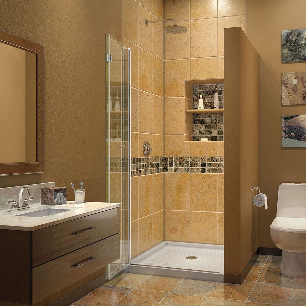 DreamLine SHDR-3634720-01 AquaFold Shower Door 33.5 in. W x 72 in. H ...