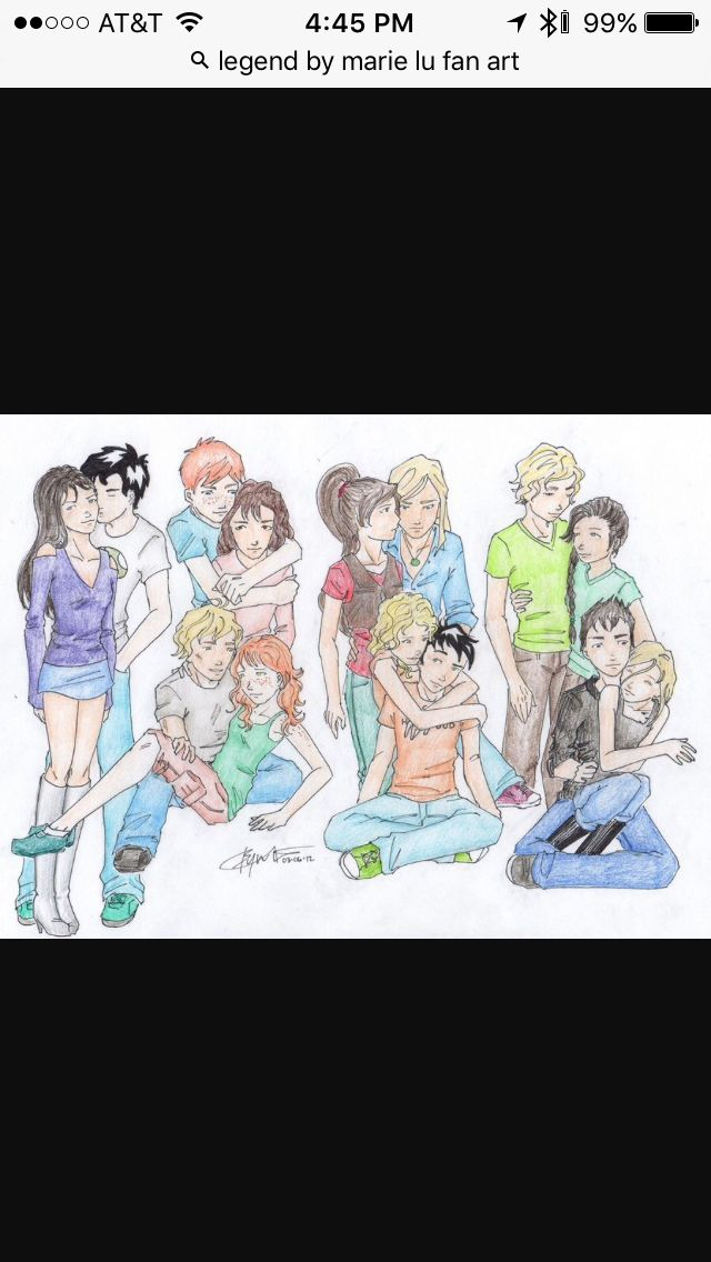 A whole bunch of book couples including Percabeth.