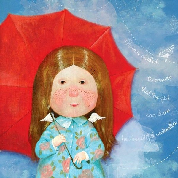 Rain is needed to ensure that the girl can show her beautiful umbrella. - Евгения Гапчинская