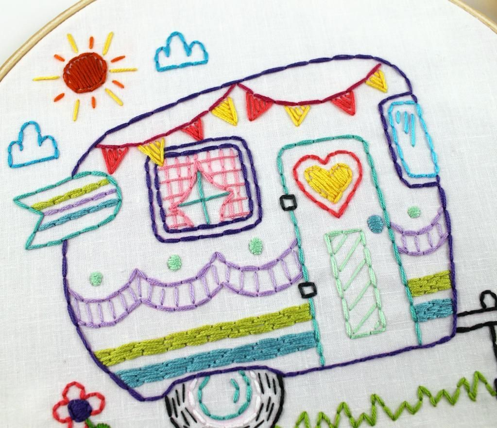 Retro camper embroidery pdf pattern retro campers embroidery retro camper embroidery pdf pattern by lovahandmade craftsy bankloansurffo Choice Image