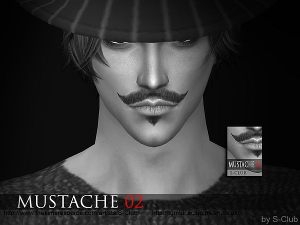 Mustache 02 by S-Club WM at TSR via Sims 4 Updates Check more at http://sims4updates.net/facial-hair/mustache-02-by-s-club-wm-at-tsr/