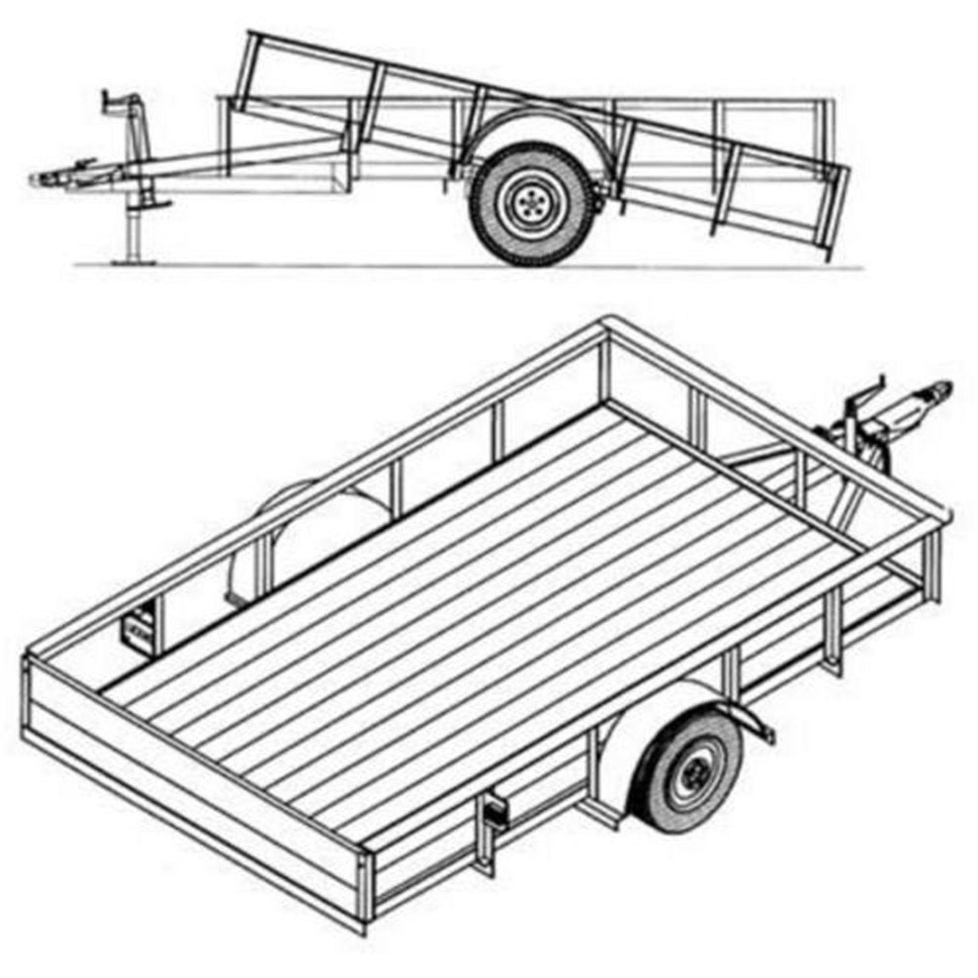 6 4 X 10 Utility Tilt Trailer Plans 3 500 Lb Capacity Model T