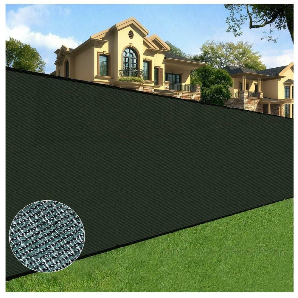 Orion 4 Ft X 50 Ft Black Privacy Fence Screen Netting Mesh With Reinforced Eyelets For Chain Link Garden Fence 10 110 The Home Depot Privacy Fence Screen Fence Screening Chain Link Fence Privacy