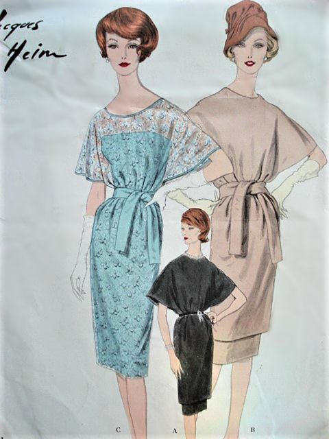 1950s CLASSY Jacques Heim Tunic Dress and Slip Day or Evening ...