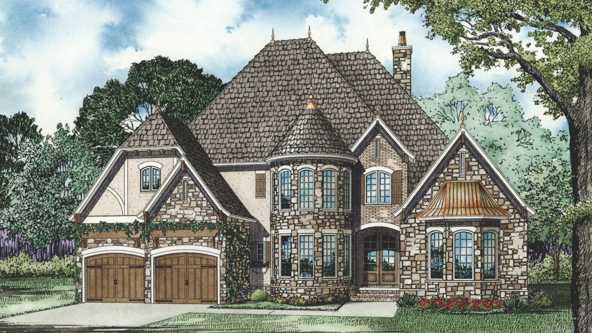 House plan ndg 1214 stone castle visual open house