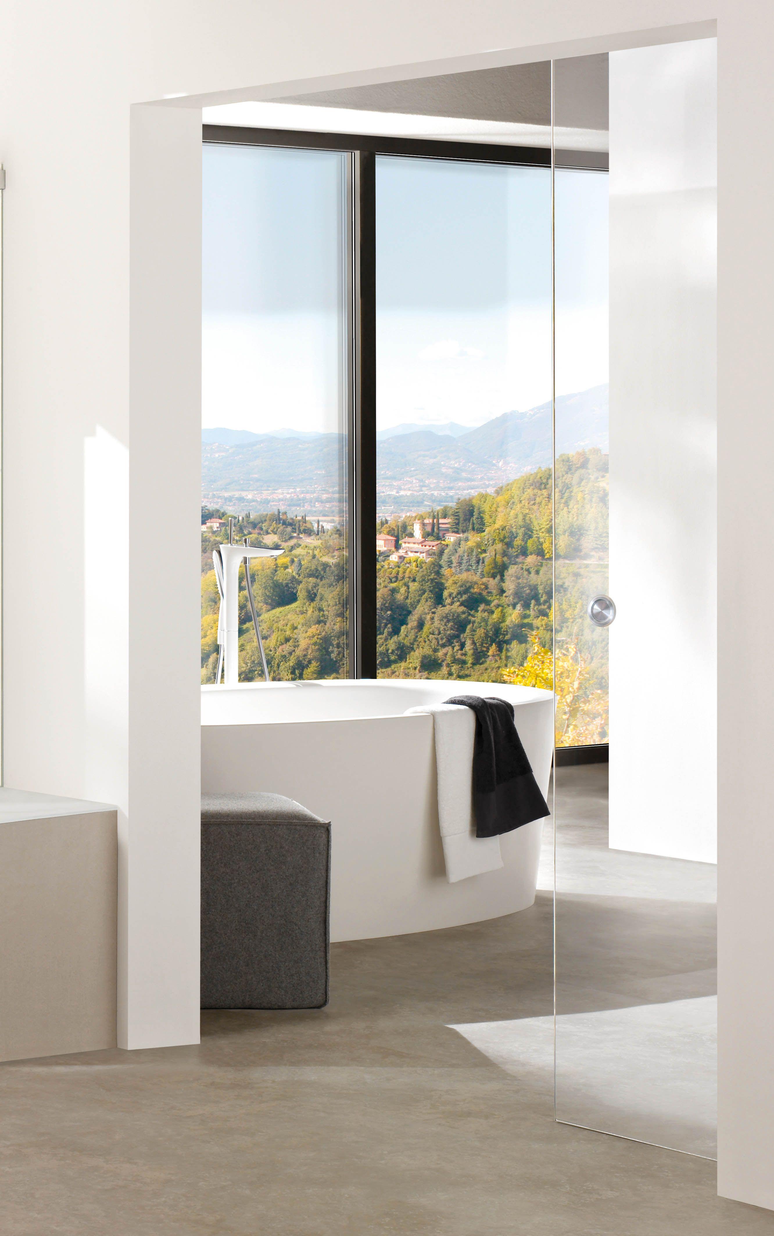 Blickdichte Glasschiebetür Badezimmer