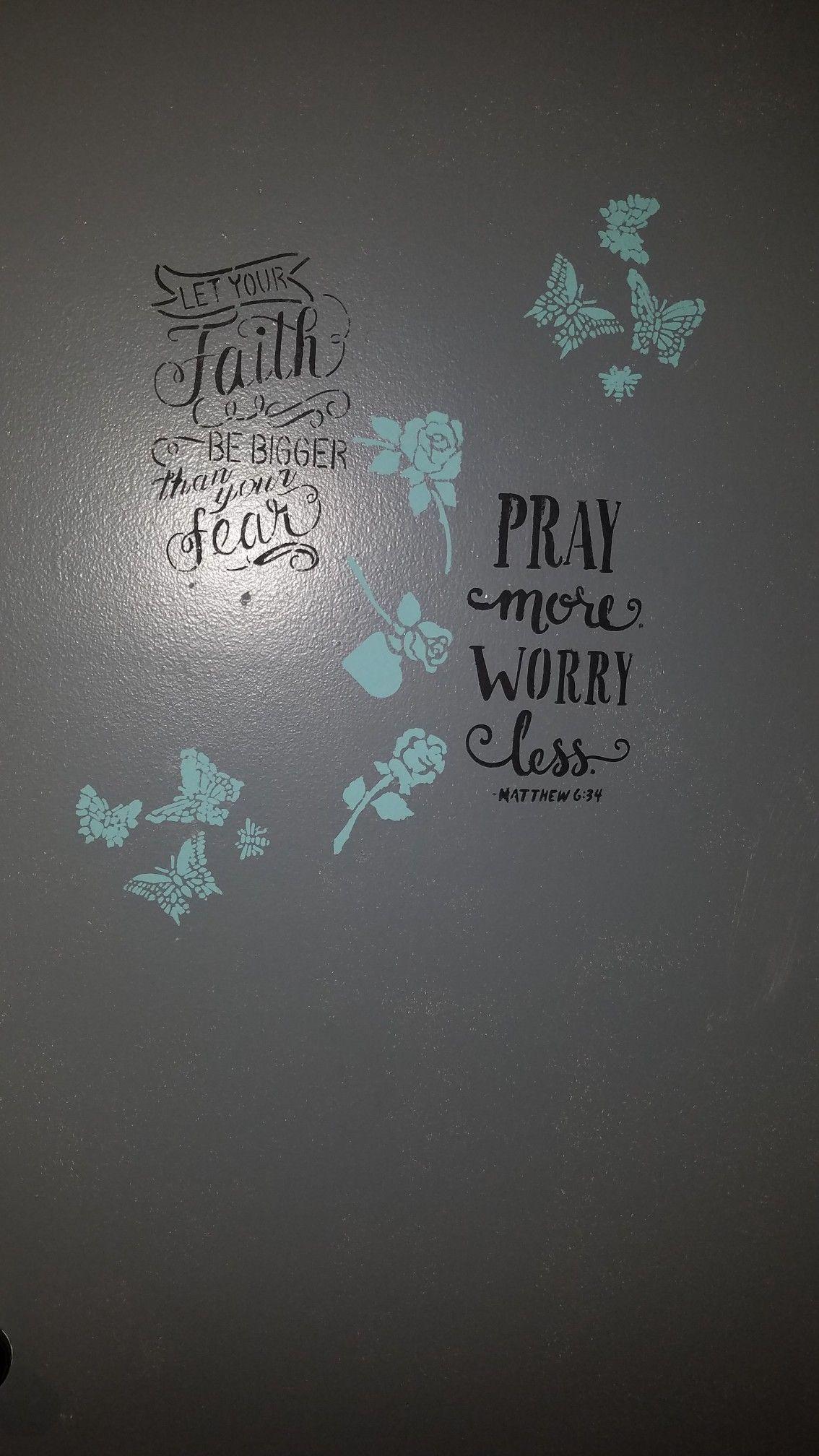 Chalk painted white bedroom closet door bedroom pinterest